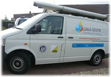 Photo of our Van with logo